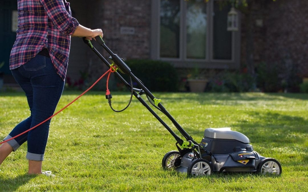 Corded lawn mowers
