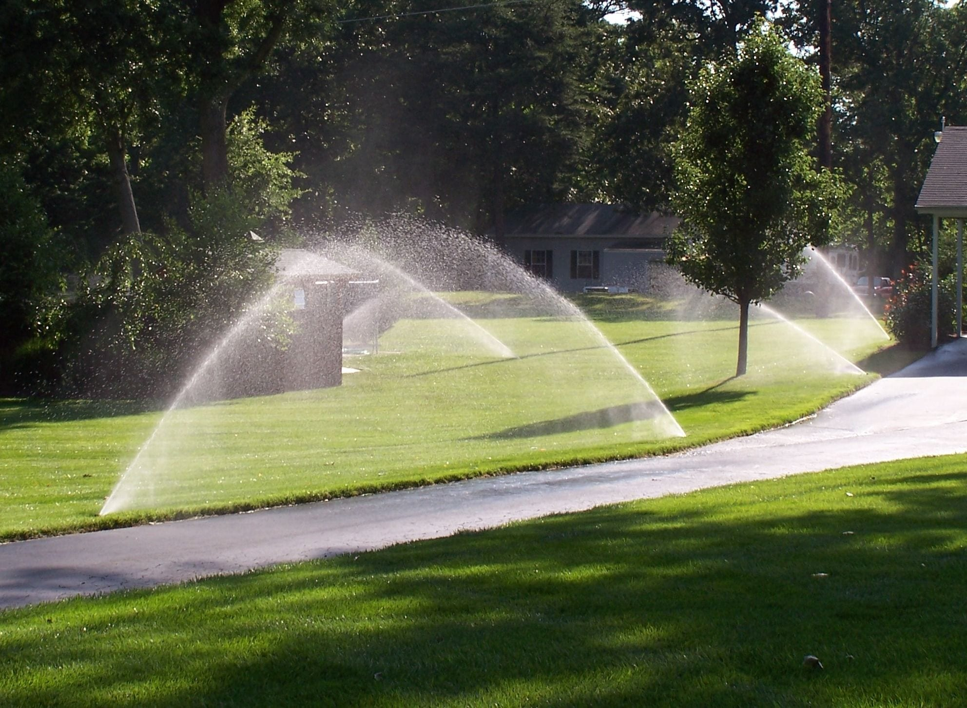 Installing lawn sprinkler for watering your lawn