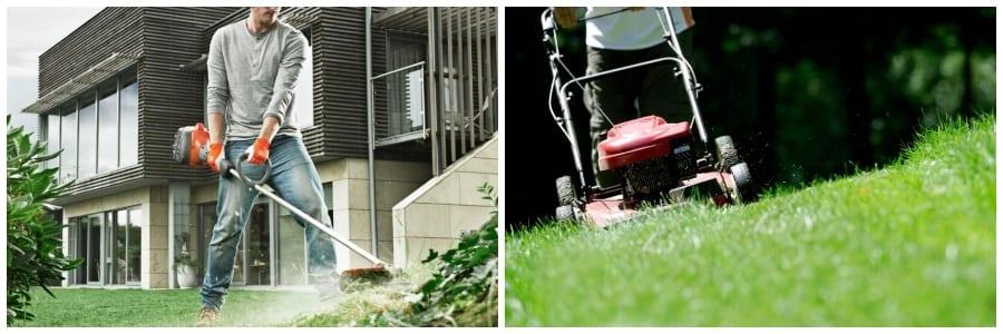 String Trimmer vs Lawnmower