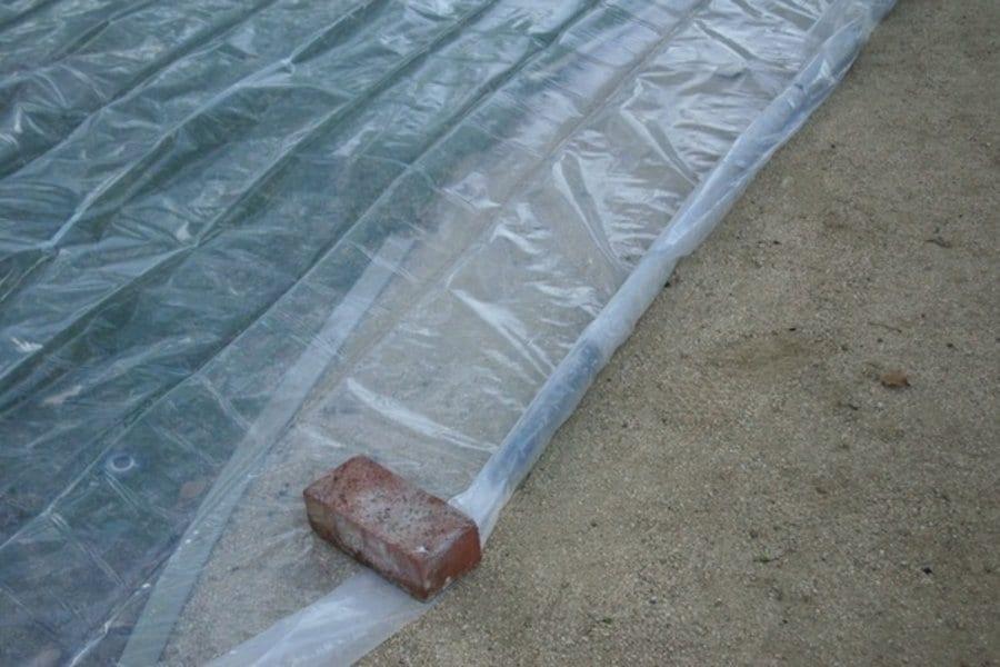Soil Solarization on lawn